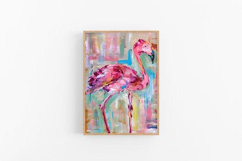 Colorful Flamingo Fine Art Print