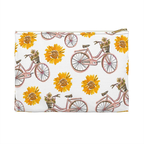 Sunflowers and Bikes Carry-All Pouch