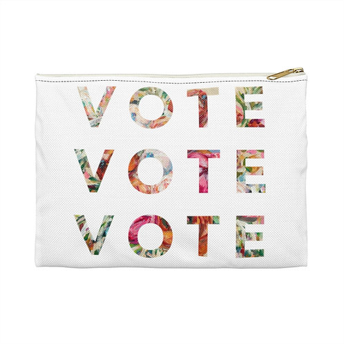 VOTE (Blooming) | White | Carry-All Pouch