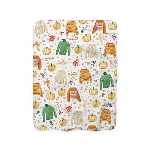 All For Fall Sherpa Fleece Blanket