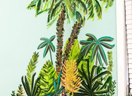 Palm Jungle Mural!