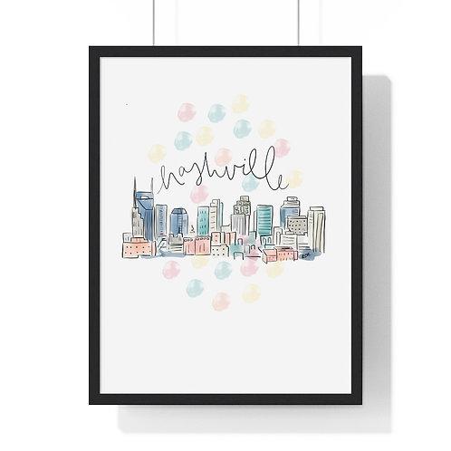 Nashville Skyline Fine Art Print (Framed)