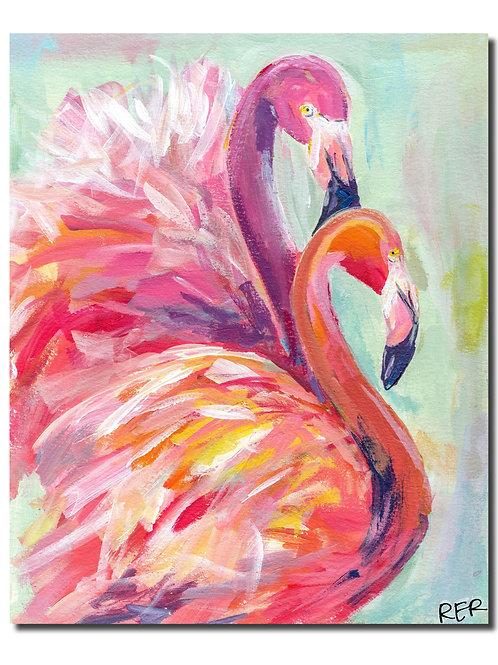 Flamingo Together 8x10 PRINT