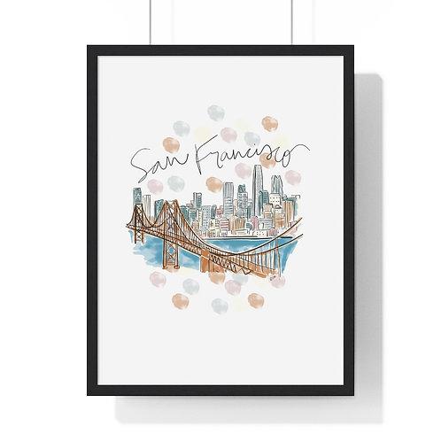 San Francisco Skyline Fine Art Print (Framed)