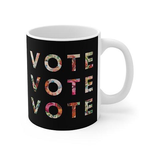 VOTE (Blooming) | Black | Mug