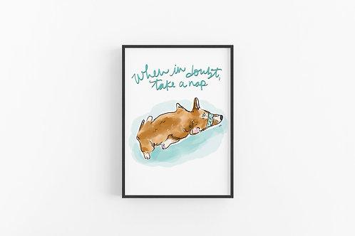 Take A Nap Fine Art Print