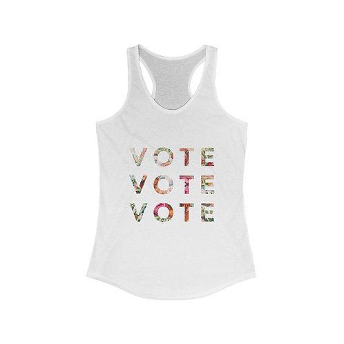 VOTE (Blooming) | Multiple Colors | Women's Racerback Tank