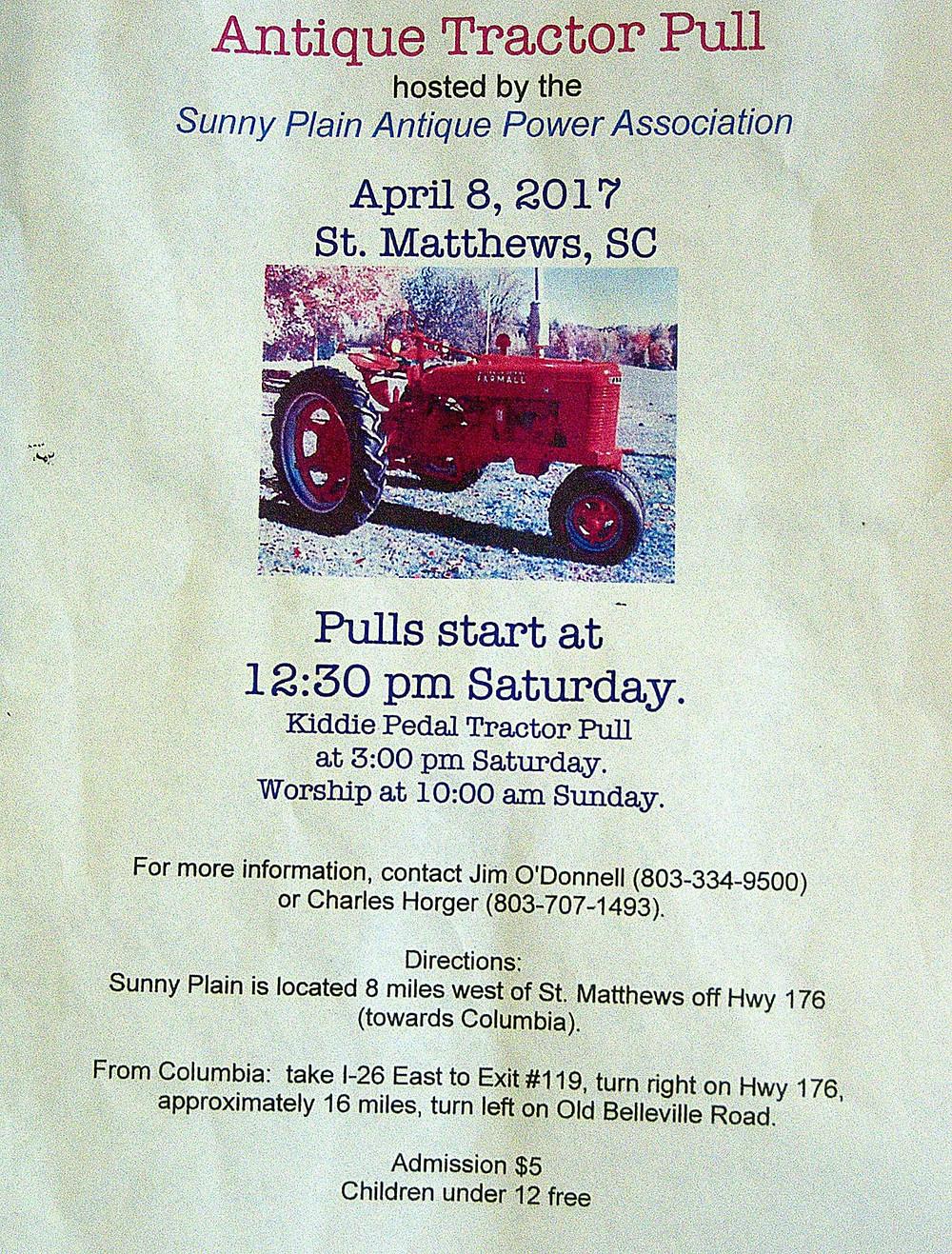 Antique Tractor Pull, Sunny Plain Antique Power Association