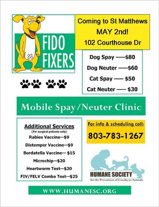FIDO FIXERS!  Spay -- Neuter -- Vaccinate