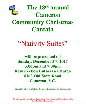 "The 18th Annual Cameron Community Christmas Cantata ""Nativity Suites"""