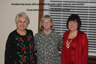 New and Honored Sandy Run Ruritan Members
