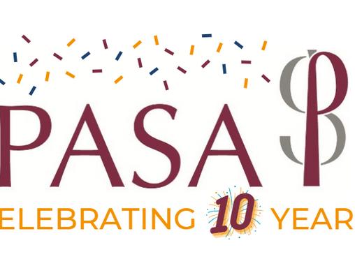 PRESS RELEASE - PASA celebrates 10th Anniversary year!
