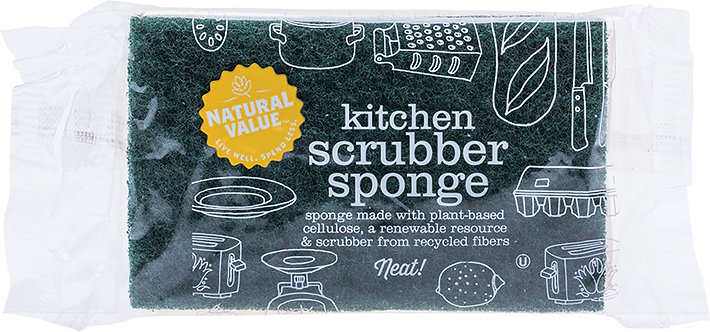 NATURAL VALUE Kitchen Scrubber Sponge - 1