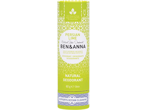 BEN & ANNA Natural Soda Deodorant Stick Persian Lime - 60g