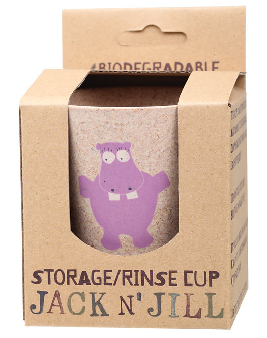 JACK N' JILL Storage/Rinse Cup Hippo Biodegradable - 1