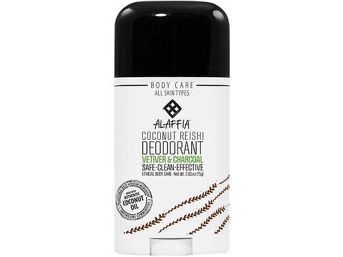 ALAFFIA Deodorant - Coconut Reishi Vetiver & Charcoal - 75g