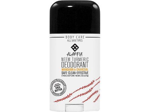 ALAFFIA Deodorant - Neem Turmeric Mandarin & Charcoal - 75g