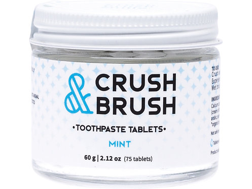 NELSON NATURALS Crush & Brush Toothpaste Tablets Mint - 60g