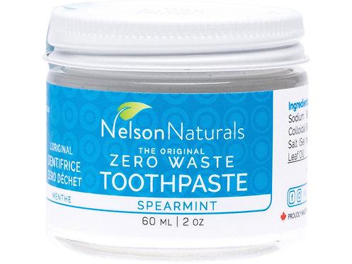 NELSON NATURALS Zero Waste Toothpaste Spearmint - 60ml