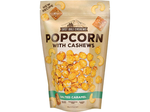 EAST BALI CASHEWS Salted Caramel Popcorn With Cashews - 90g
