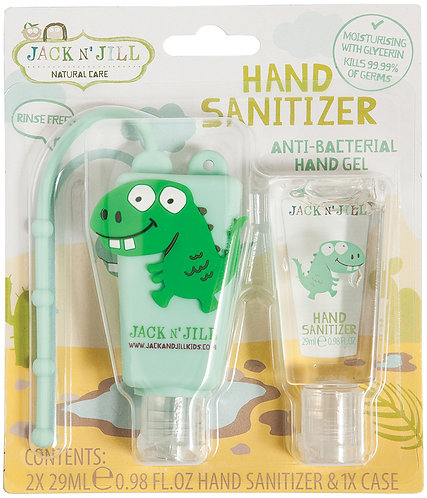 JACK N' JILL Hand Sanitizer & Holder Dino - 29ml
