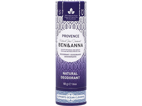 BEN & ANNA Natural Soda Deodorant Stick Provence - 60g
