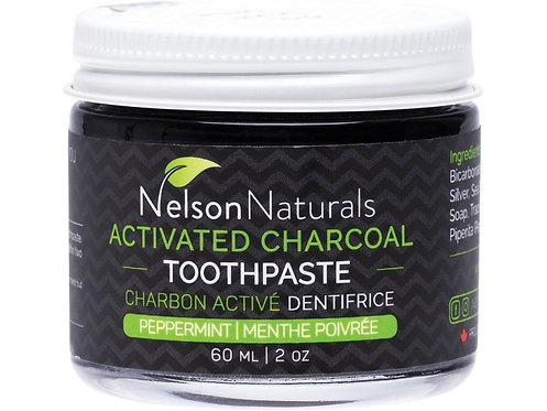 NELSON NATURALS Activated Charcoal Toothpaste Peppermint - 60ml