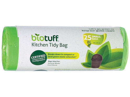 BIOTUFF General Use Bin Liners 25 Bags Biodegradable - SMALL, MEDIUM AND LARGE