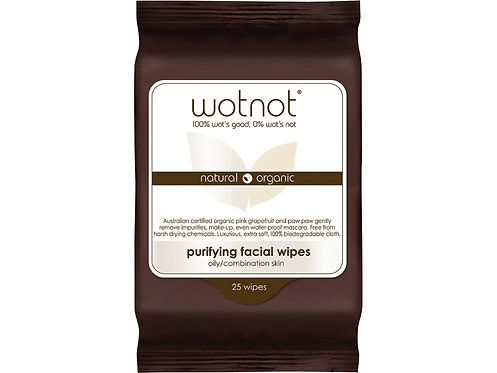 WOTNOT Purifying Facial Wipes Oily/Combination Skin - 25