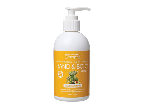 BIOLOGIKA Hand & Body Wash Bush Lemon Myrtle - 250ml