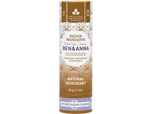 BEN & ANNA Natural Soda Deodorant Stick Indian Mandarin - 60g