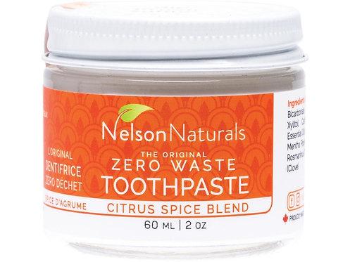 NELSON NATURALS Zero Waste Toothpaste Citrus Spice Blend - 60ml