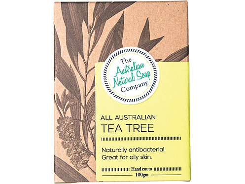 THE AUSTRALIAN NATURAL SOAP COMPANY Face Soap Bar Tea Tree - 100g
