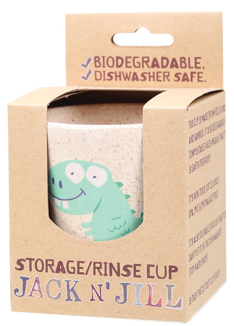 JACK N' JILL Storage Rinse Cup Dino Biodegradable - 1