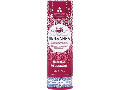 BEN & ANNA Natural Soda Deodorant Stick Pink Grapefruit - 60g