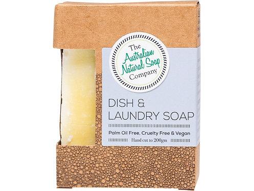 THE AUSTRALIAN NATURAL SOAP COMPANY Dish & Laundry Soap Bar - 200g