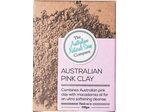 THE AUSTRALIAN NATURAL SOAP COMPANY Face Soap Bar Australian Pink Clay - 100g