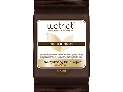 WOTNOT Ultra-Hydrating Facial Wipes Aging/Dry Skin - 25