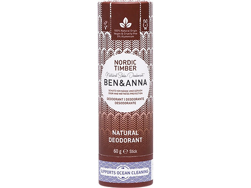 BEN & ANNA Natural Soda Deodorant Stick Nordic Timber - 60g