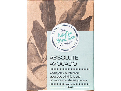 THE AUSTRALIAN NATURAL SOAP COMPANY Face Soap Bar Absolute Avocado - 100g