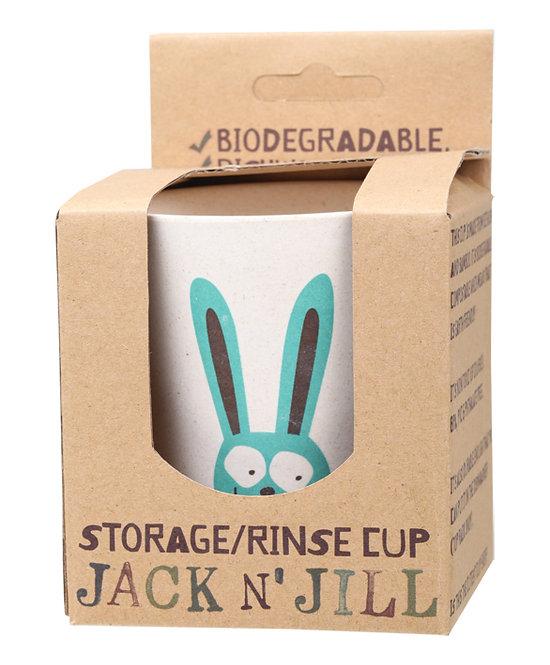 JACK N' JILL Storage/Rinse Cup Bunny Biodegradable - 1