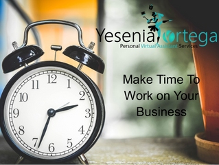 Making Time to Work on Your Business