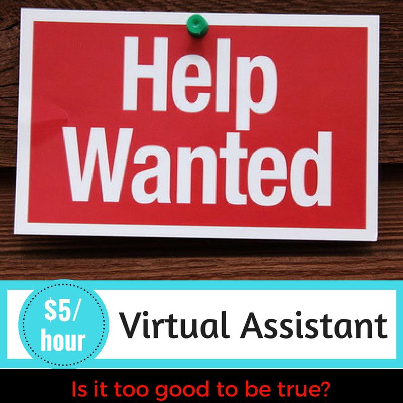 $5/hr Virtual Assistant