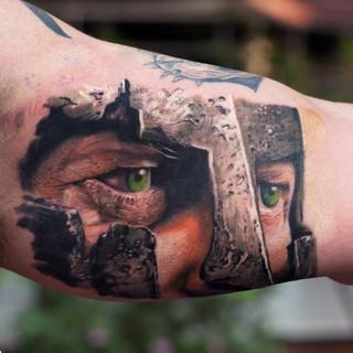 warrior-portrait-tattoo-realistic-colour