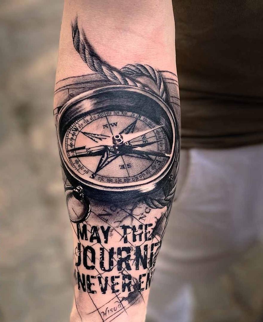 Half Sleeve Travelling Tattoos