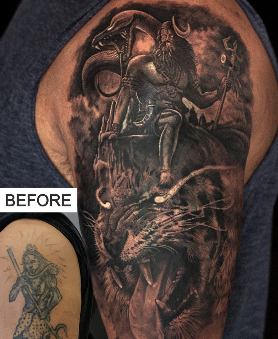 Tattoo Coverup on shoulder