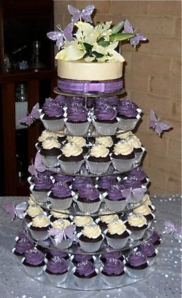 wedding cake and cupcakes purple the cupcakery gallery wix 21733