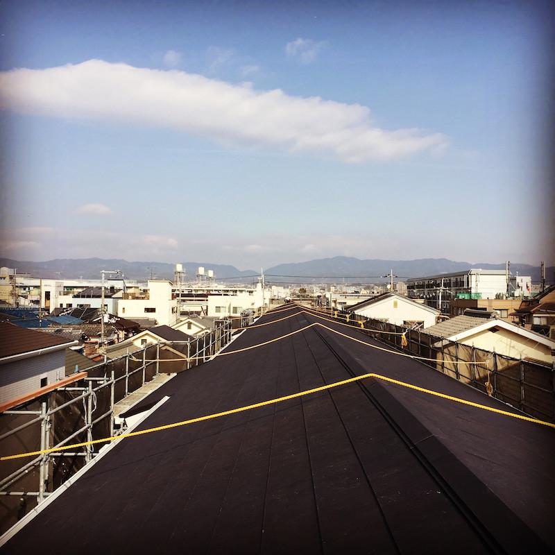 ハニカムラボリノベーションマンション外壁と屋根改修工事