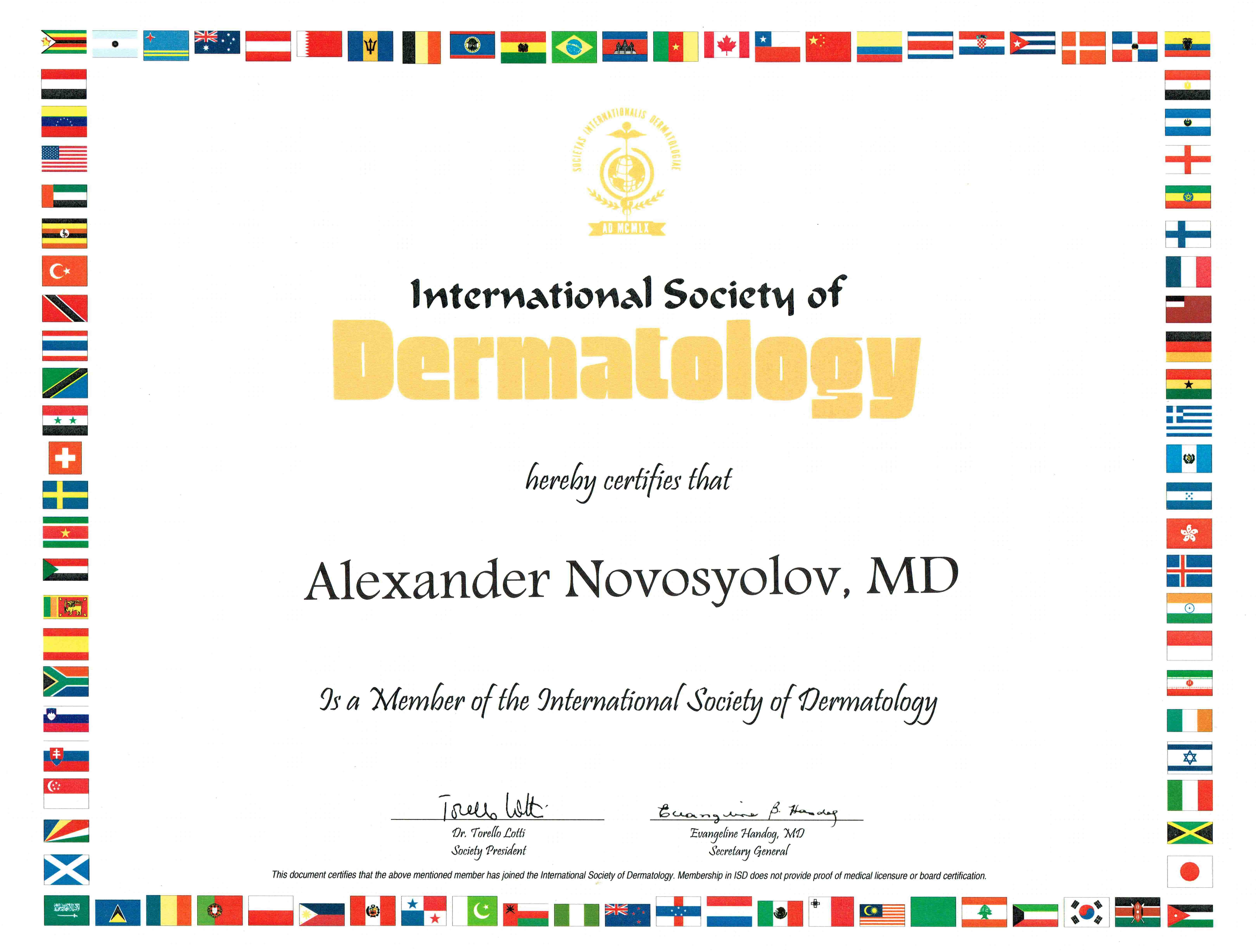 Member of the ISD