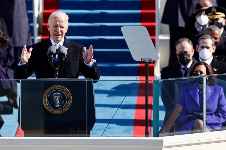 President Joseph R. Biden's Inaugural Address. Courtesy aljazeera.com